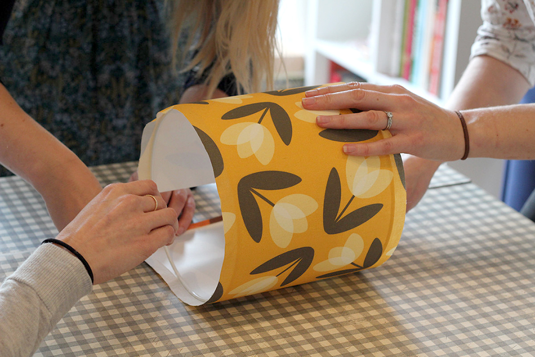 Making a drum lampshade