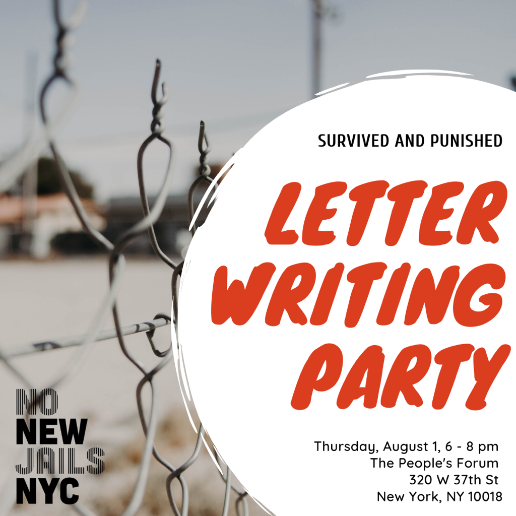 NNJ and S&P Letter Writing Party