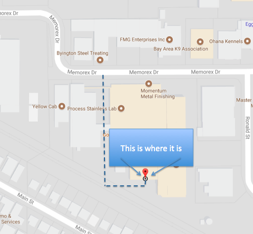 Map to Golden State Brewery
