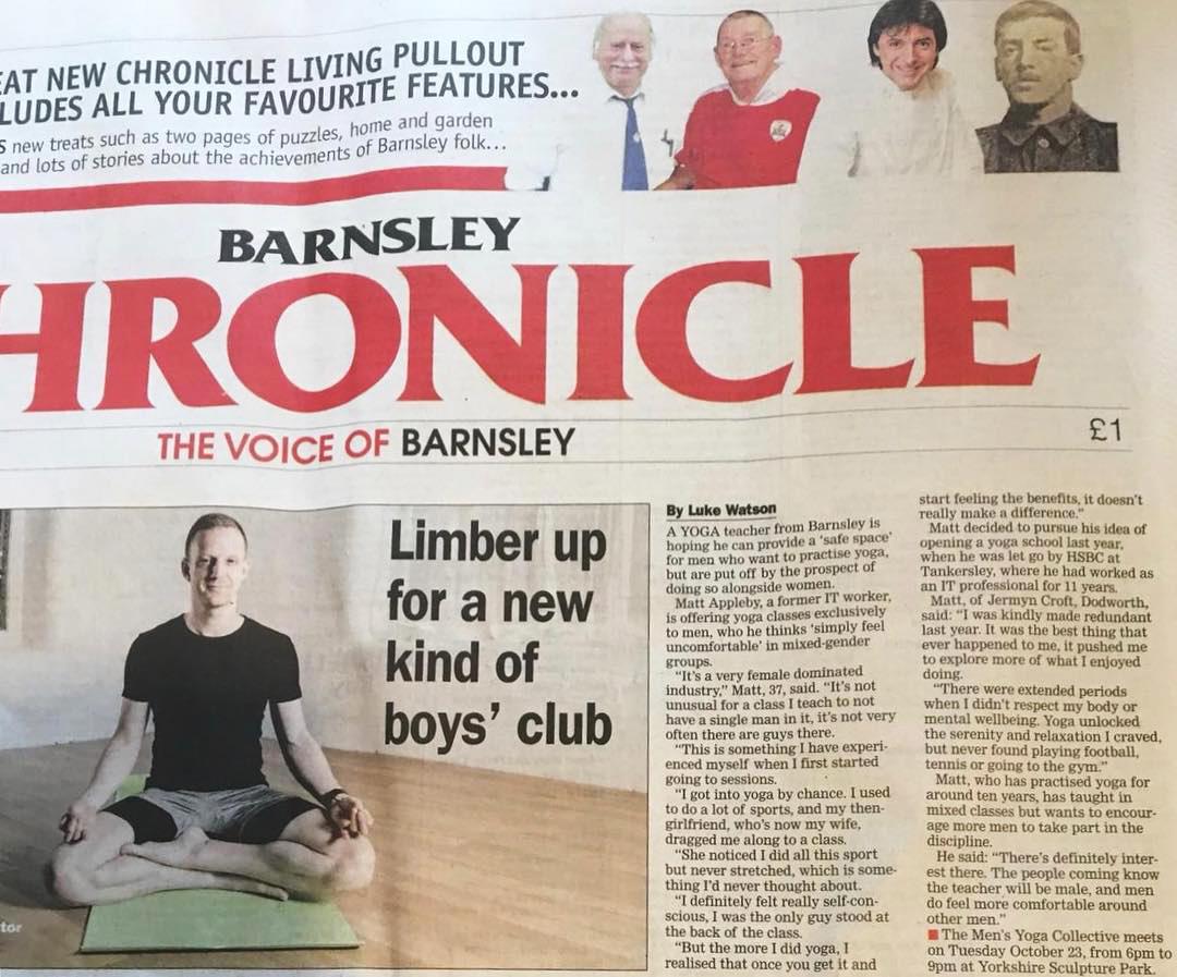 CLIENT: Matt Appleby | Barnsley Chronicle | November 2018
