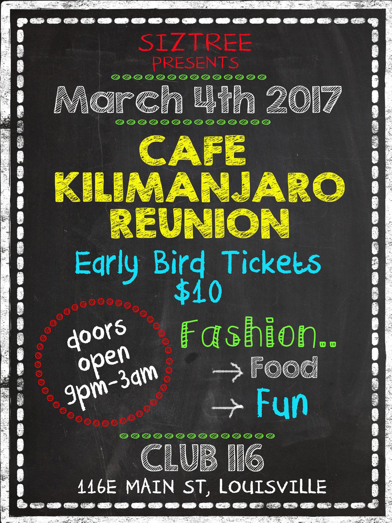 Cafe Kimimanjaro Reunion 2017