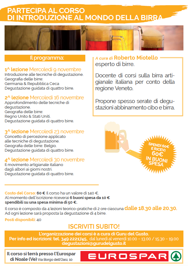 birra noale programma