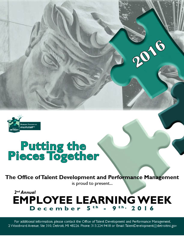 Employee Learning Week flier