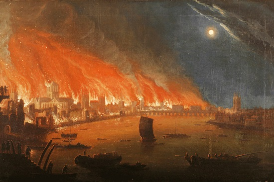The Great Fire of London - Anon 1700