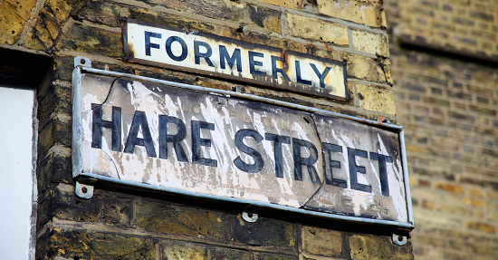 Hare Street Sign