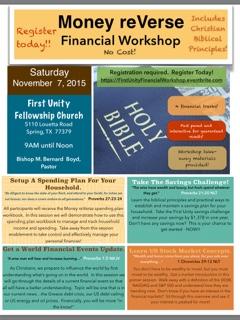 Money reVerse Financial Workshop - First Unity Fellowship