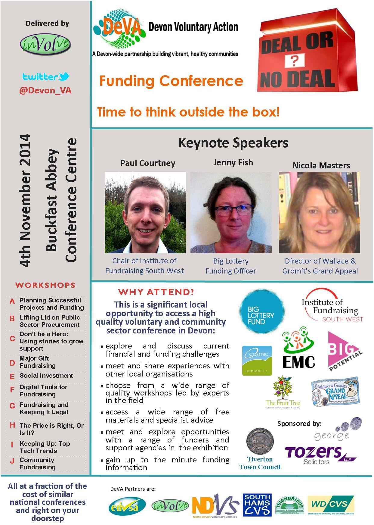 DeVA Funding Conference Programme 2014