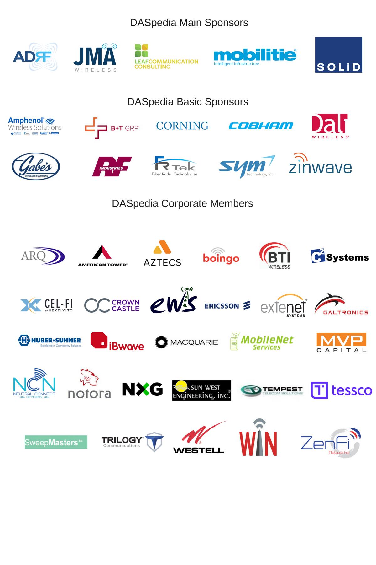 DASpedia NFOC sponsors