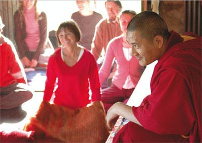 Tulku Lobsang teaching in Europe