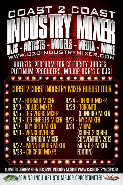 Coast 2 Coast Industry Mixer July Tour
