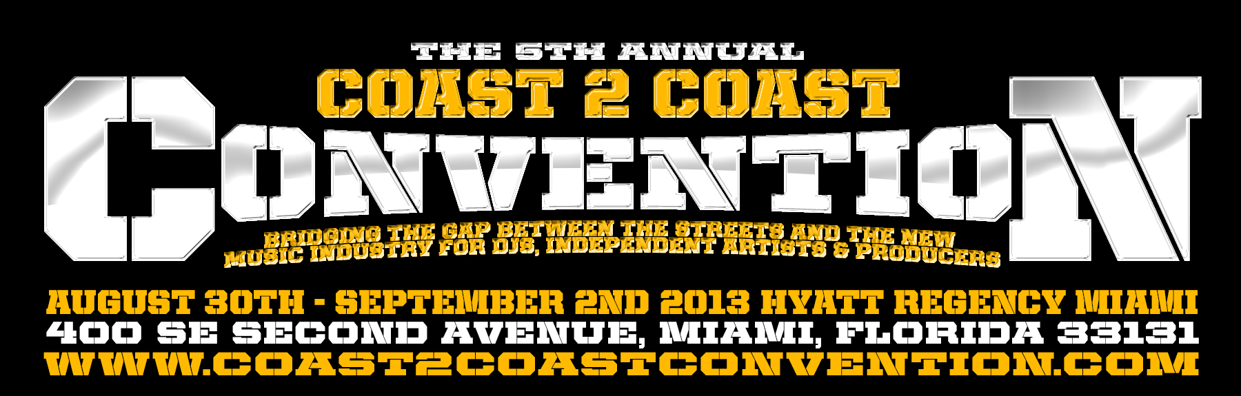 Coast 2 Coast Convention 2013 Logo