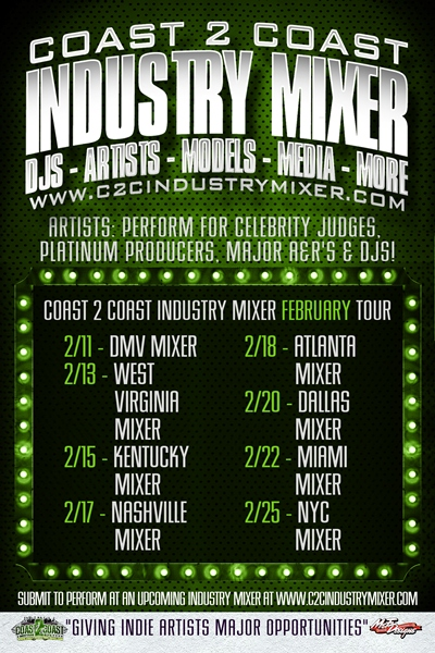 Coast 2 Coast Industry Mixer February Tour