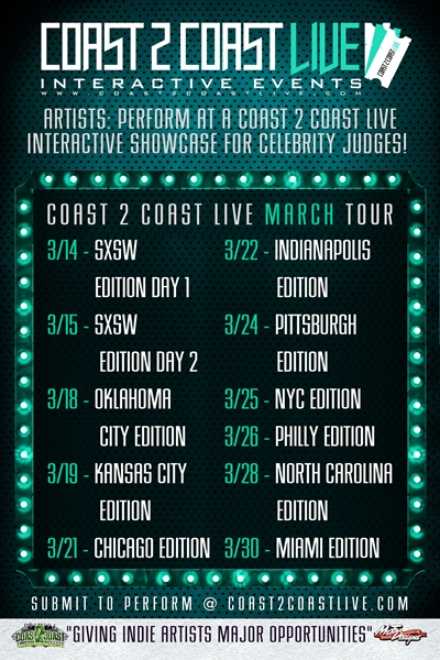 Coast 2 Coast LIVE March Tour