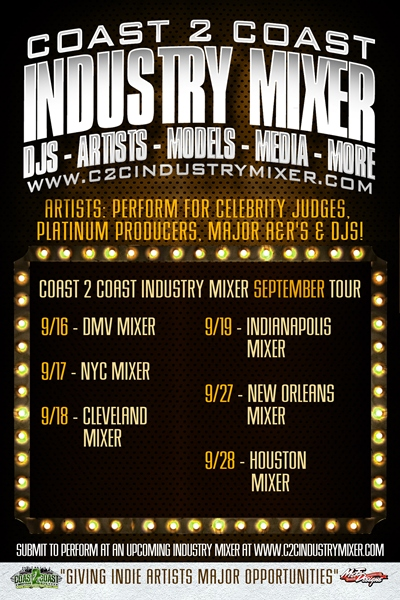 Coast 2 Coast Industry Mixer September Tour