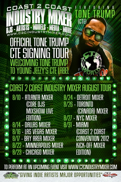 Coast 2 Coast Industry Mixer August Tour - Tone Trump