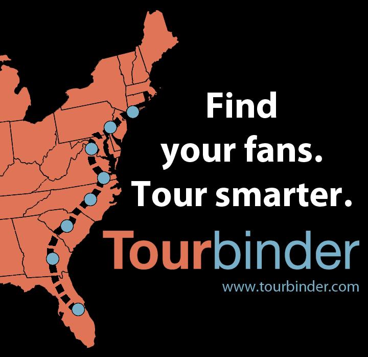 Find your fans. Tour smarter. Tourbinder.