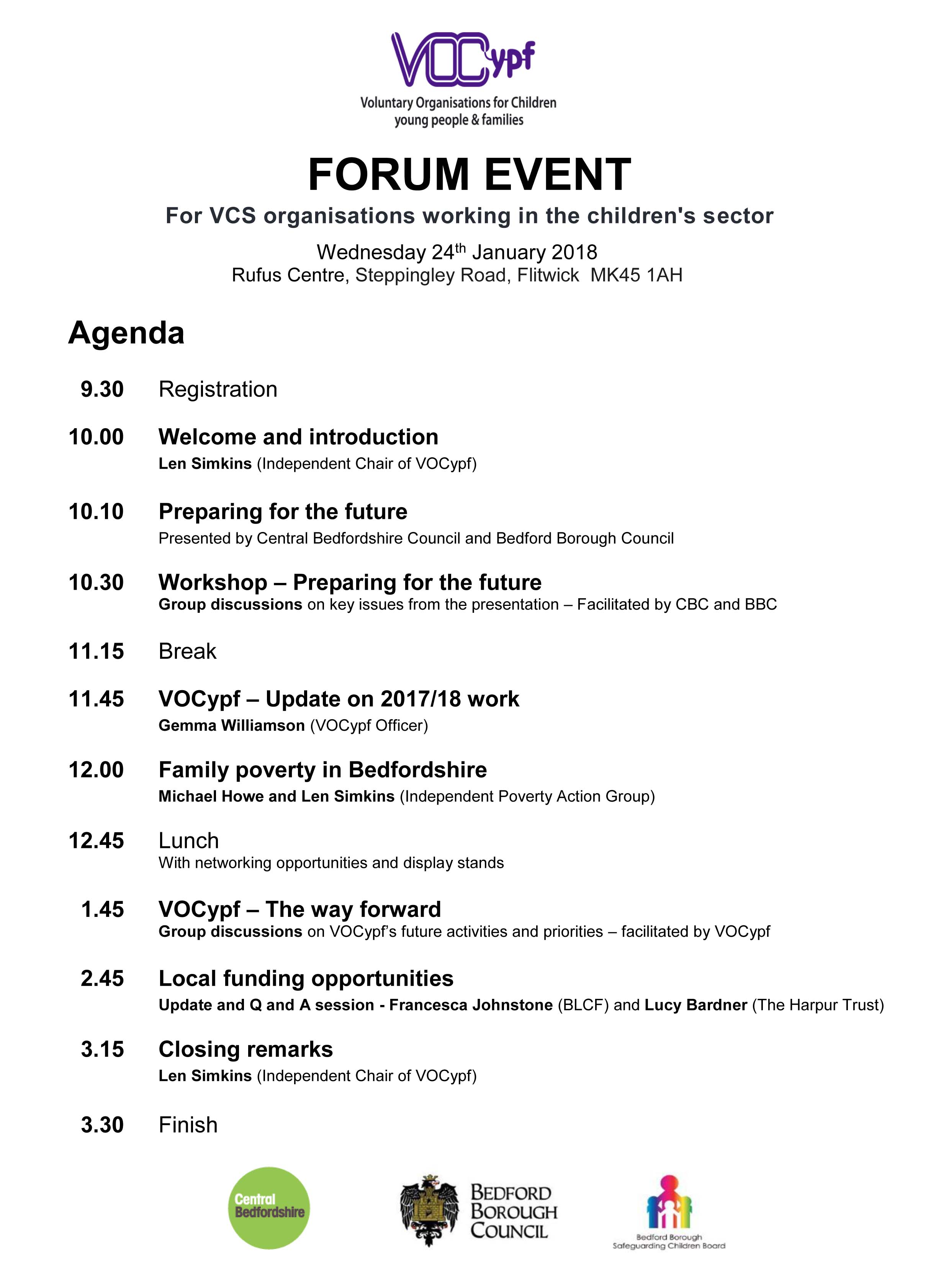 if you are unable to read the agenda here, please contact us for a copy to be sent