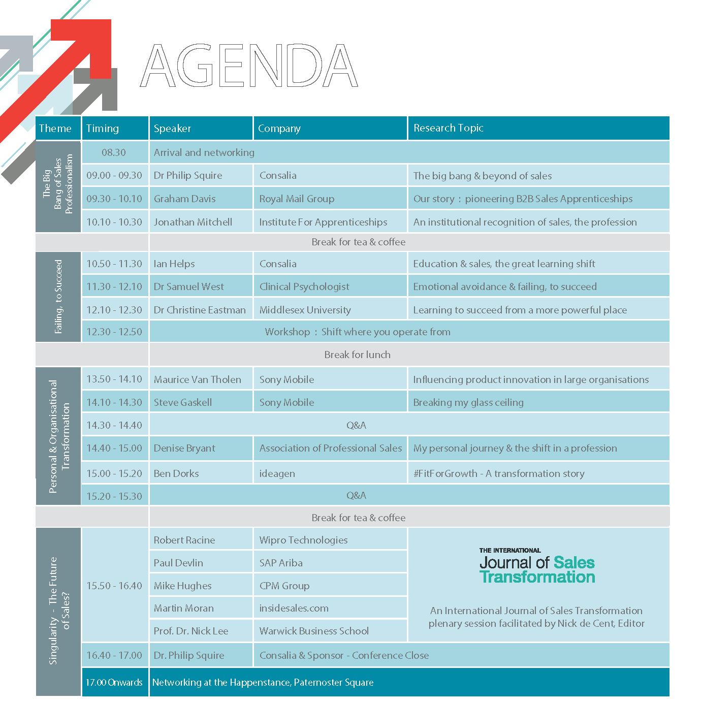GST Conference Agenda