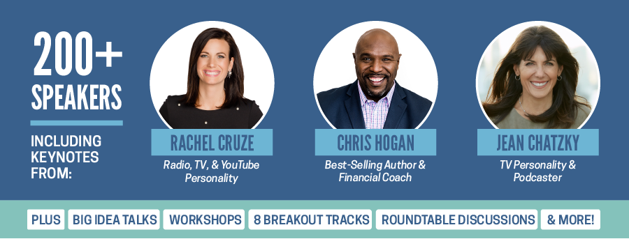 #FinCon18 Keynotes from Rachel Cruze, Chris Hogan, and Jean Chatzky