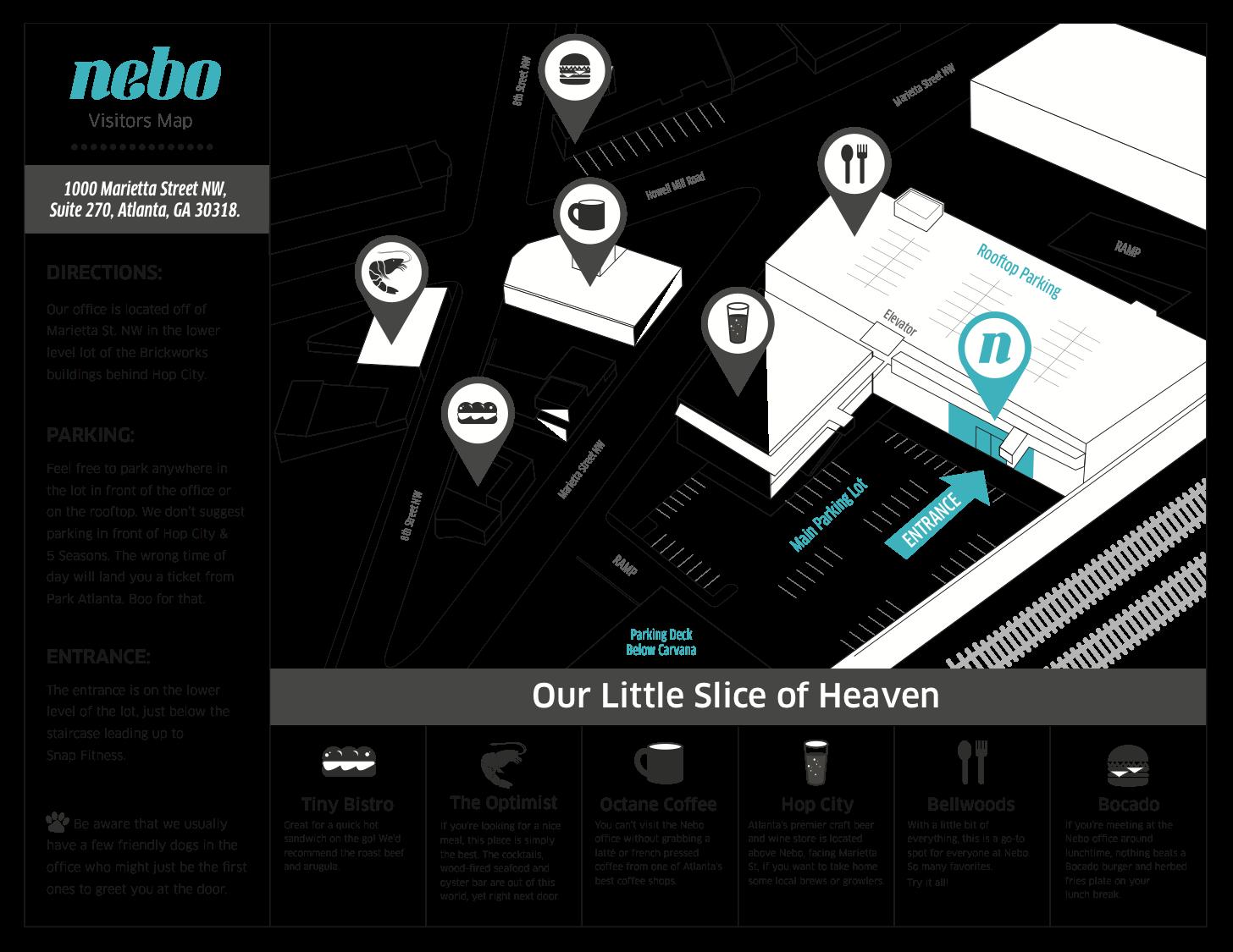 Nebo Visitors Map