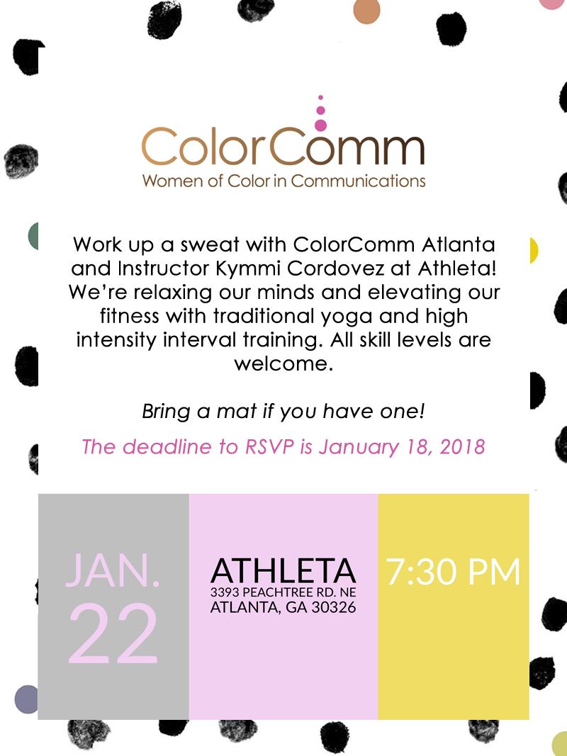HIIT & Yoga with ColorComm Atlanta & Athleta