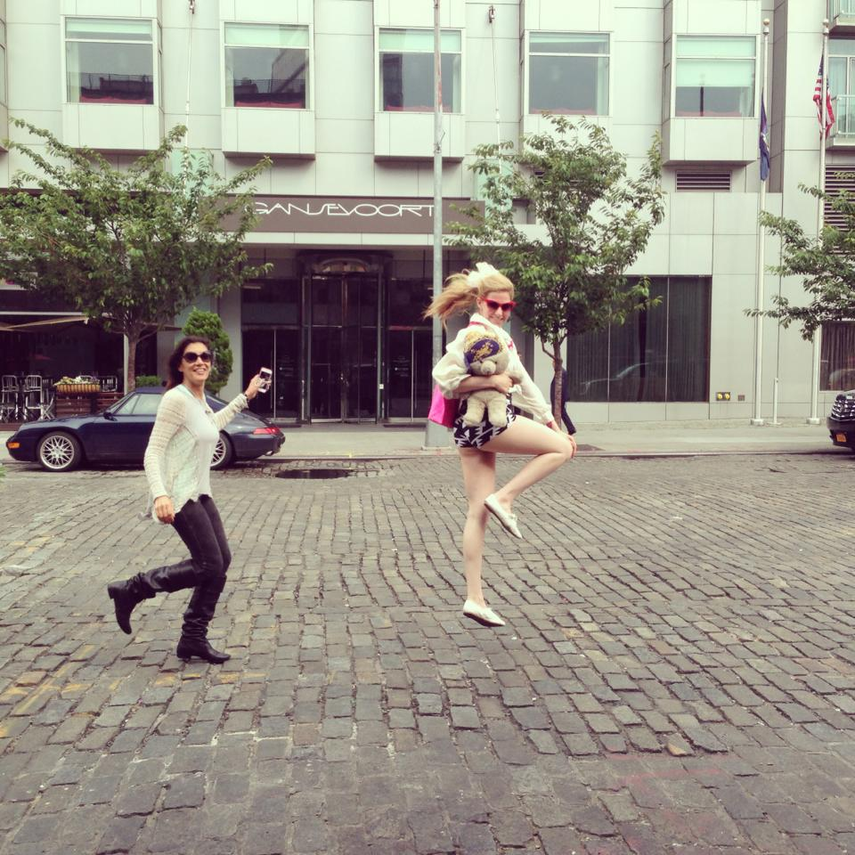 peg samuel and michelle joni skipping by the gansevoort