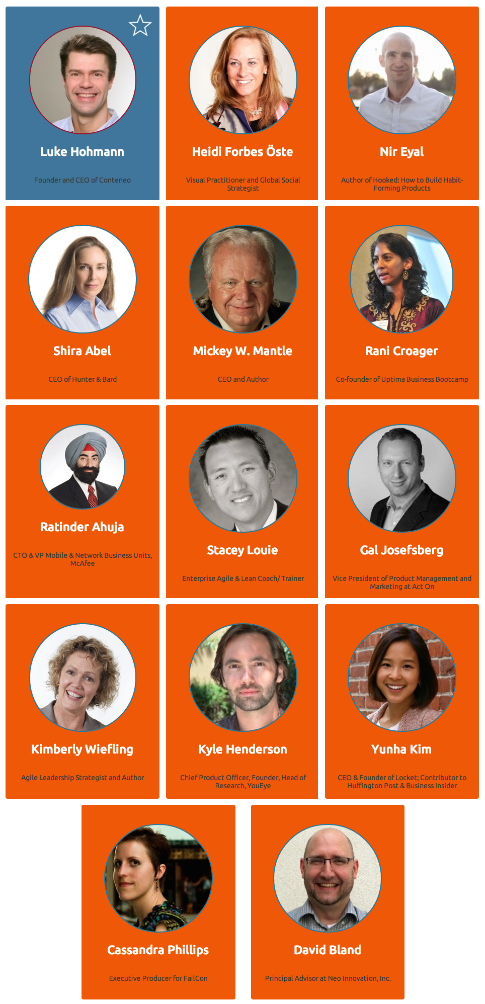 The Product Summit San Francisco Speakers