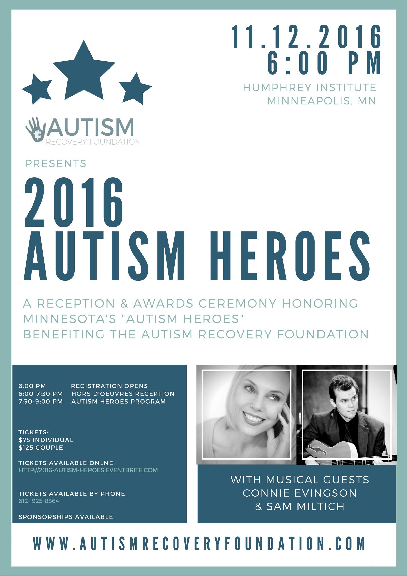 2016 Autism Heroes Flyer