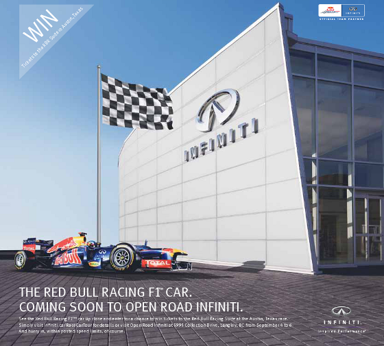 RedBull F1 Showcar coming to OpenRoad Infiniti