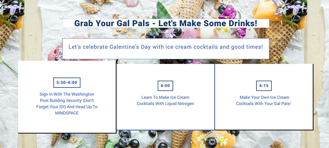 Spiked Ice Cream Baking Class | Cocktails for Galentine's Day