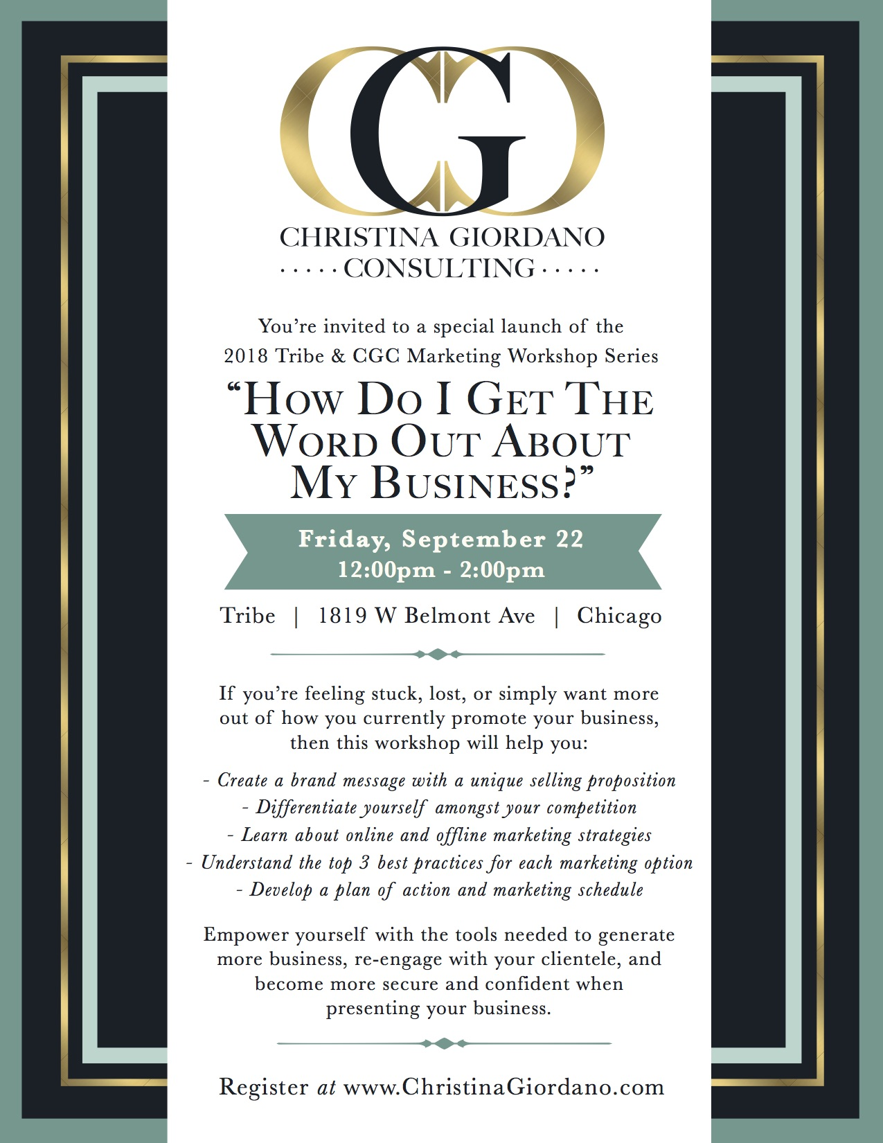 Get the Word Out Marketing Workshop