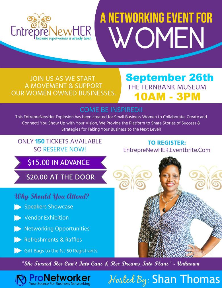 EntreprenewHER Shan Thomas Event Invite