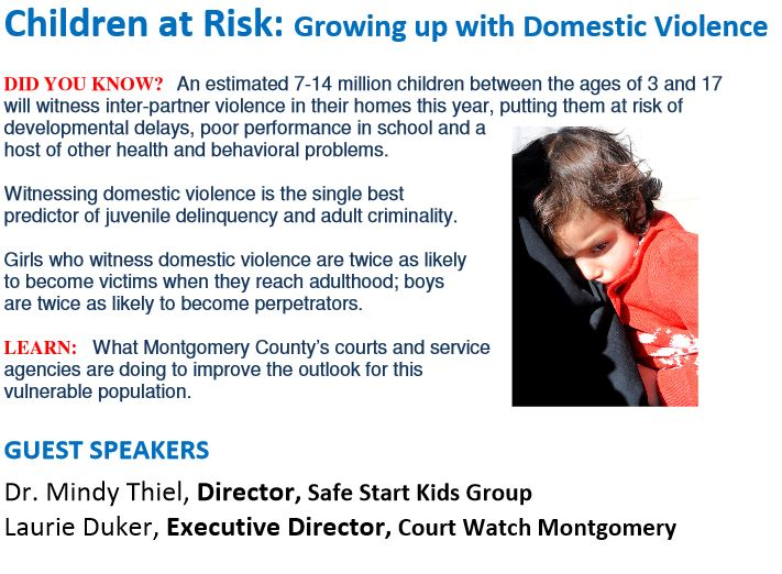 Children at Risk: Growing up with Domestic Violence