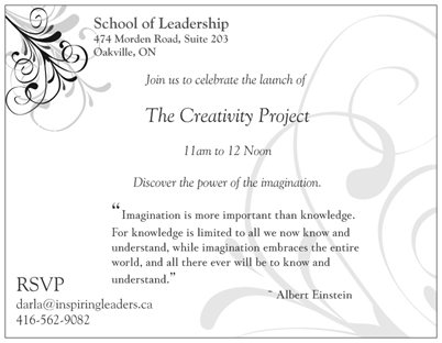 The Creativity Project Invitation