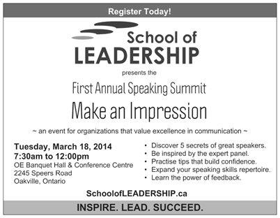 Make an Impression Event Details