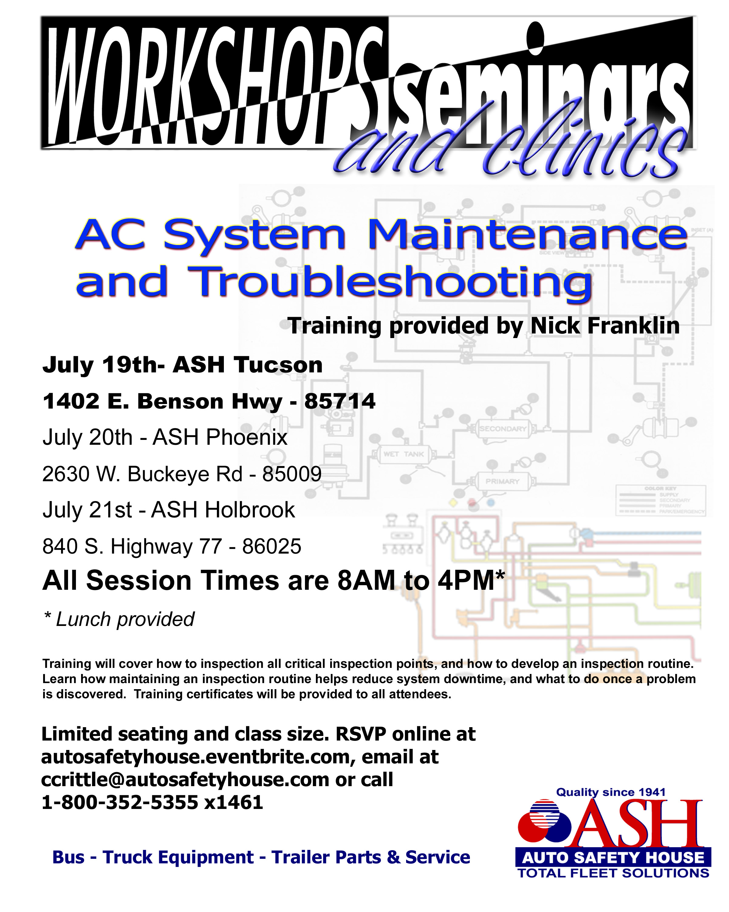 AC Systems Maintenance and Troubleshooting Flyer