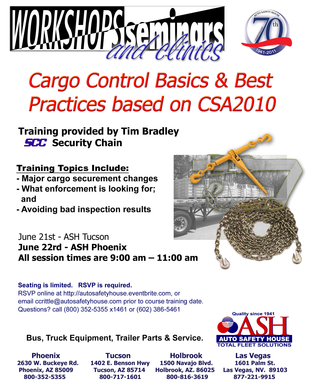 Cargo Control CSA 2010 Seminar Flyer