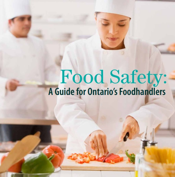 Download the Food Handler study manual from the City of Hamilton Website