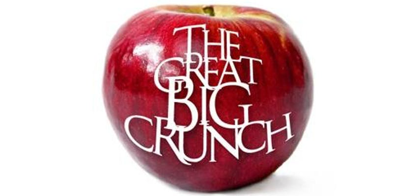 Photo of apple with text Great Big Crunch