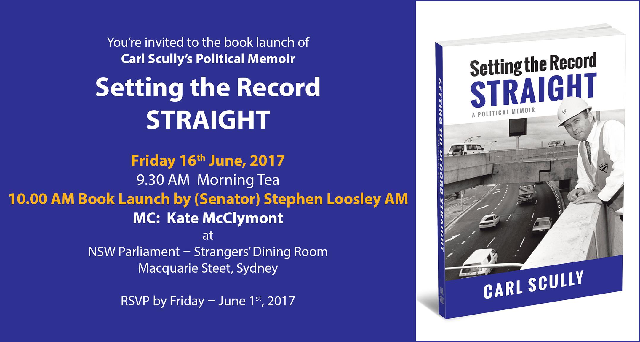 etting the Record Straight : A Political Memoir