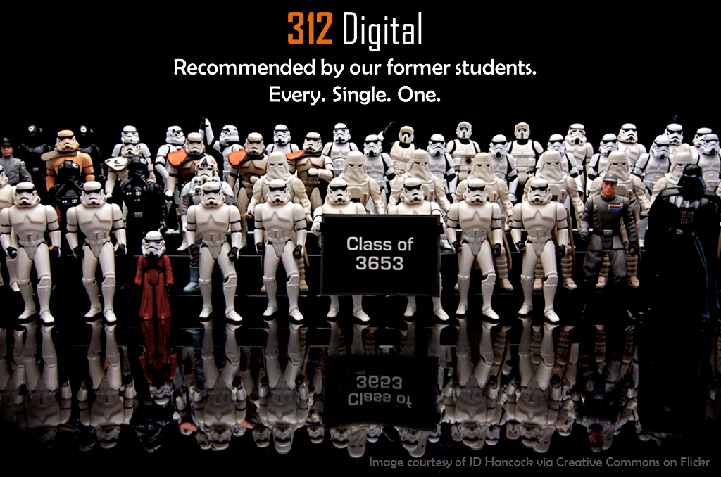 312 Digital is recommended by 100% of our former students