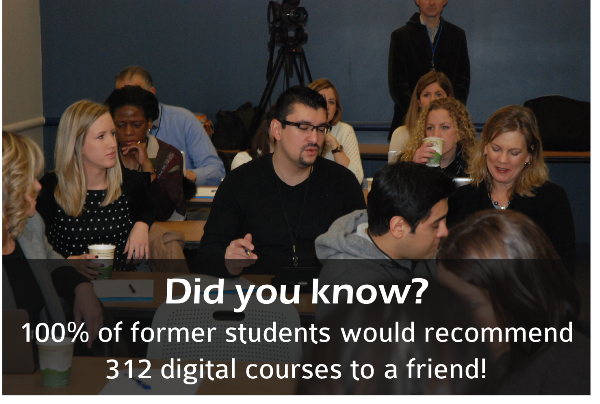 Former students recommend 312 Digital Courses