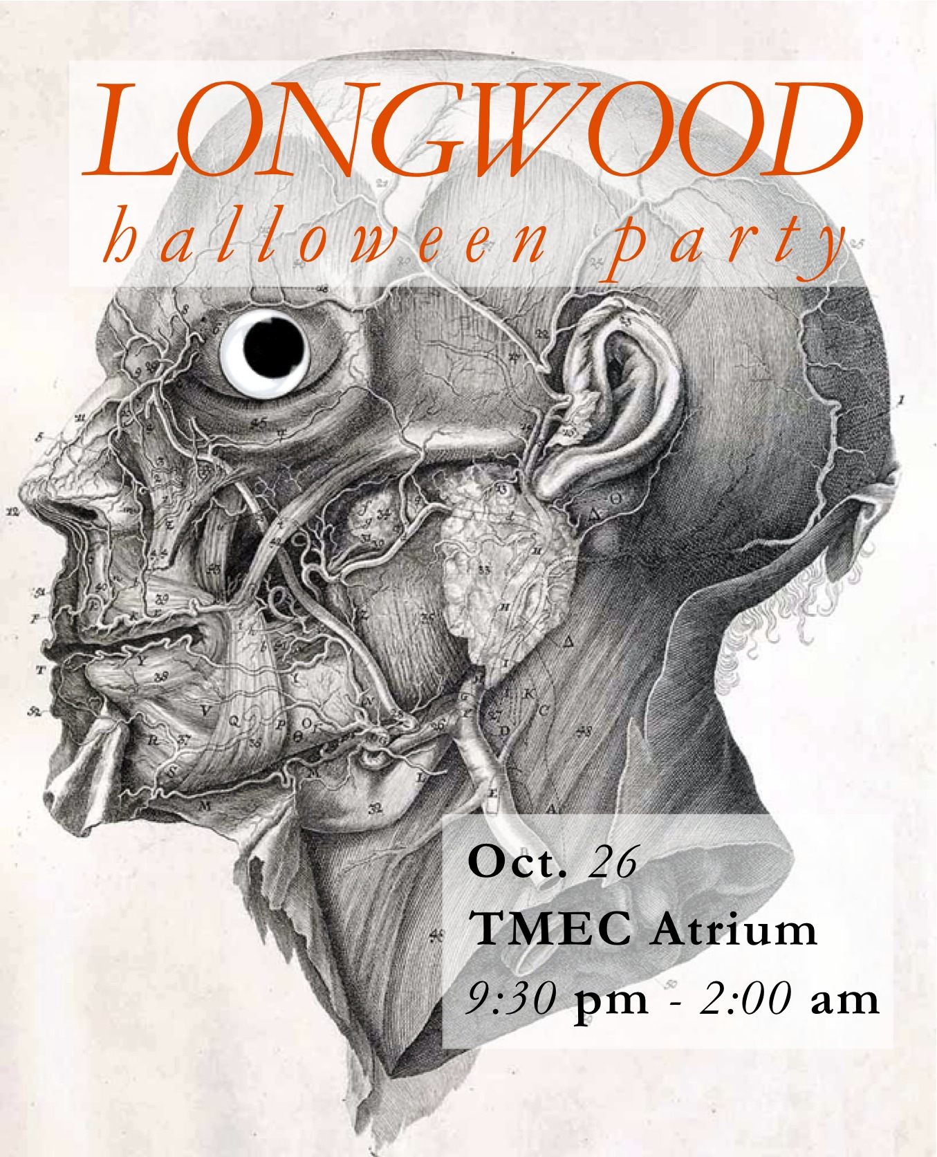 Longwood Halloween Party: October 26th, 9:30pm-2am