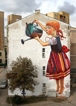 Public Art: Painting on old building