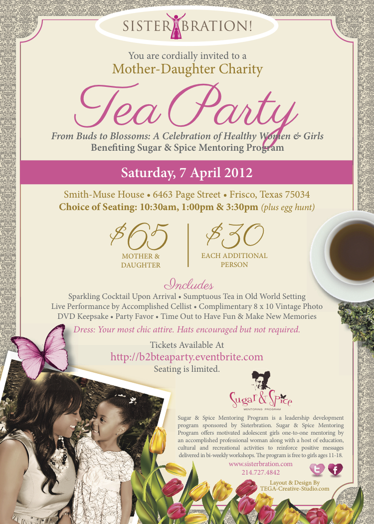 Mother Daughter Tea Party Invitations - Free Printable Invitation ...