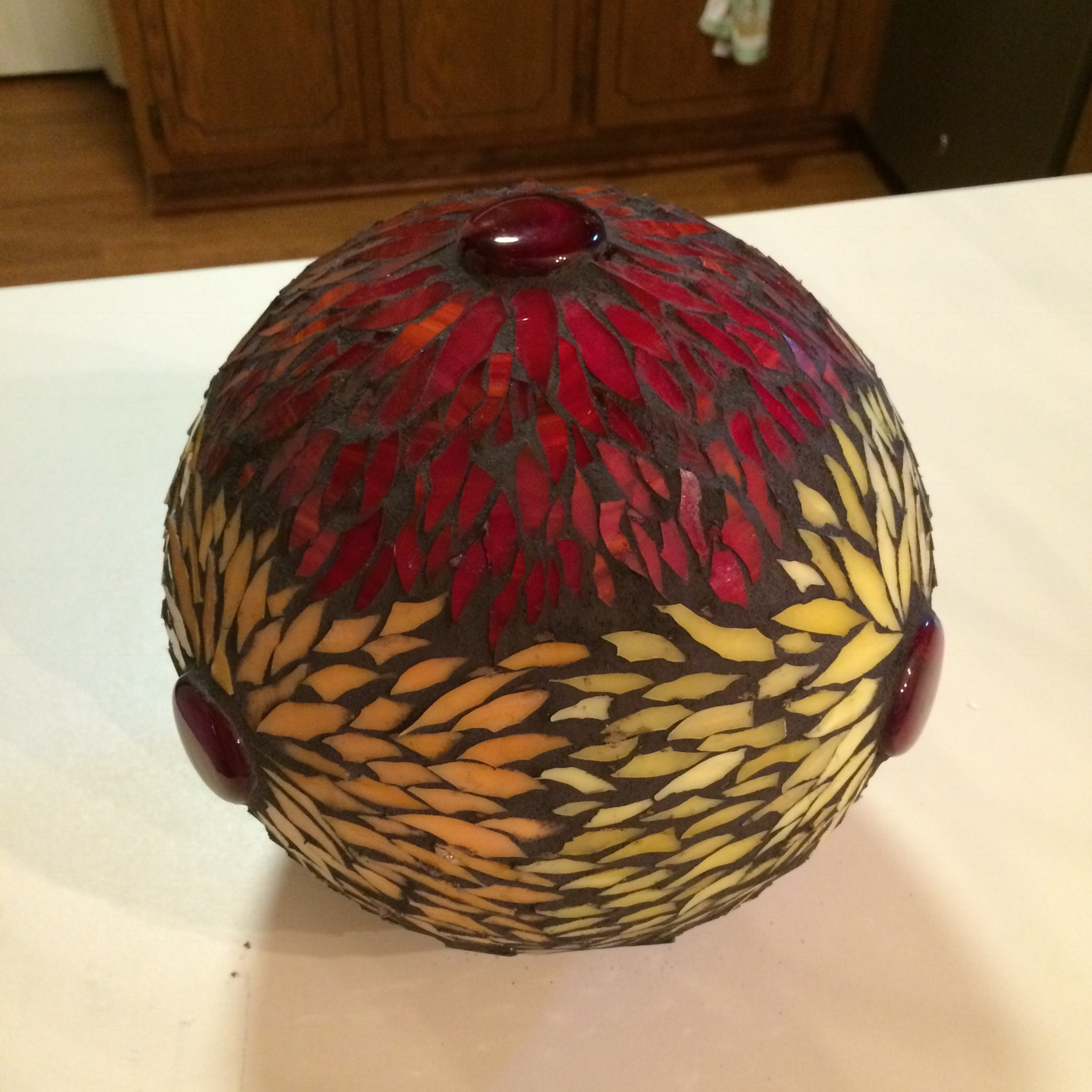 Mosaic Garden ball by Flower Floozy Designs