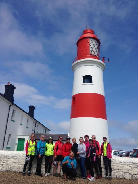 Bike Belles at Souter Lighthouse last year