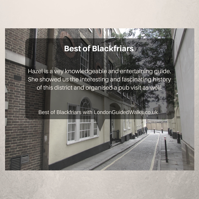 Best of Blackfriars walking tour