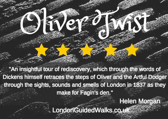 Oliver Twist Charles Dickens walk in London