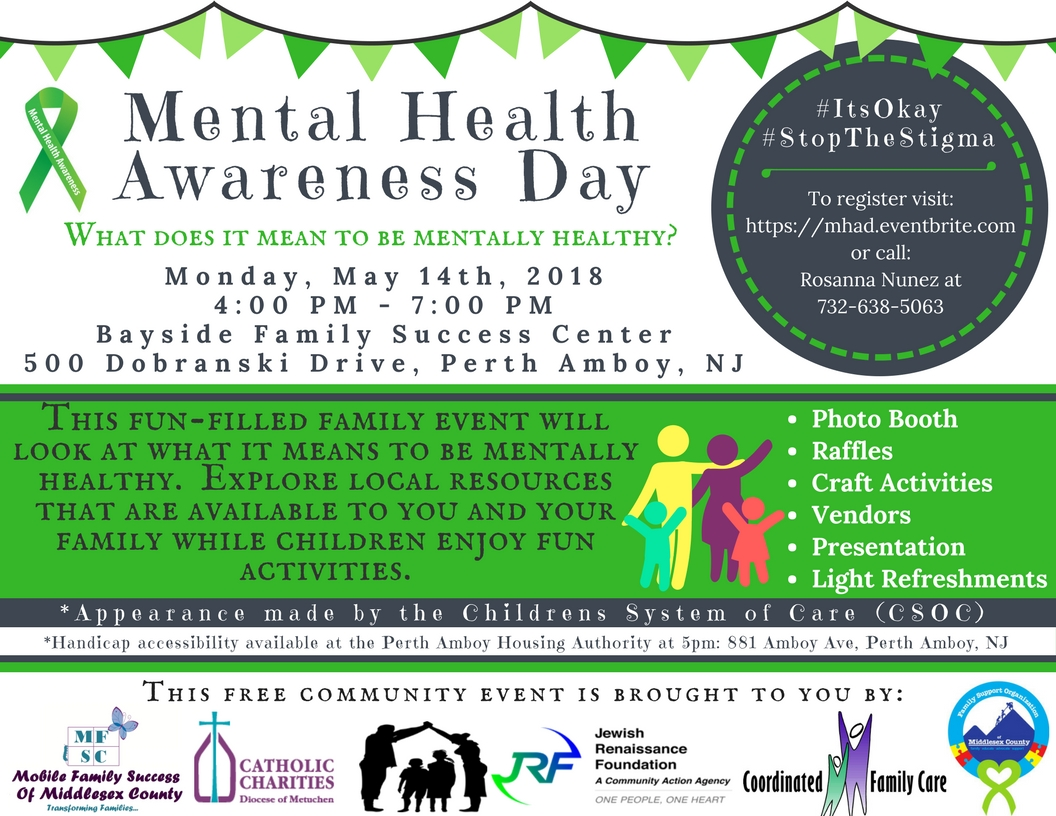 Mental Health Awareness Day - 14 MAY 2018